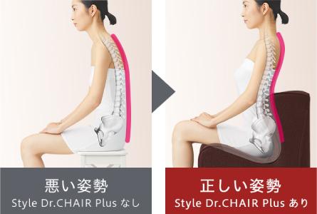座るだけで「正しい姿勢」をサポート